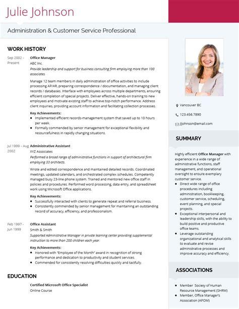 modern professional cv template visualcv