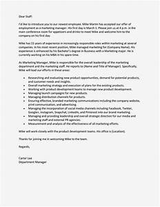 Self Introduction Letter As A New Colleague To All Staff ...