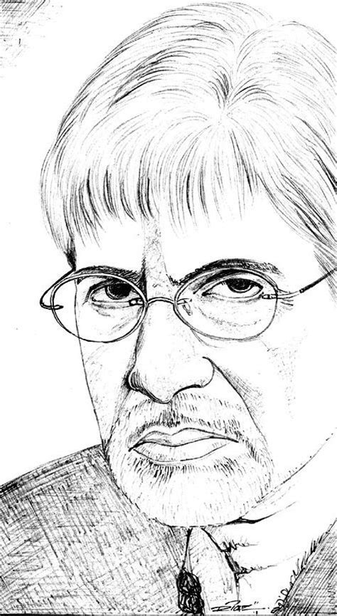 amitabh bachchan big   bollywood pencil sketches