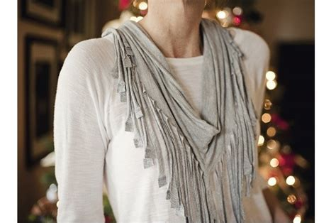 tutorial  sew fringed  shirt scarf sewing