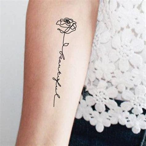 tatouage rose avec phrase tattoos tattoos