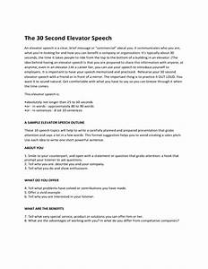 30 seconds elevator speech example free download With 30 second pitch template