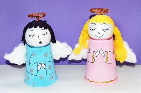paper cup angel kids crafts fun craft ideas