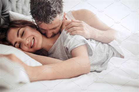 Beautiful Passionate Couple In Bed ~ People Photos ~ Creative Market