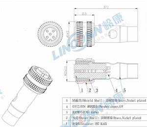 M12 Female Male Panel Mount Connector 4 Pin Connector M12 Waterproof Cable Connector With