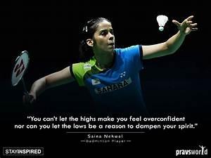 Mind Blowing Ba... Saina Nehwal Quotes