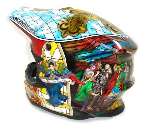 custom motocross helmet painting custom painted helmet gallery stained glass