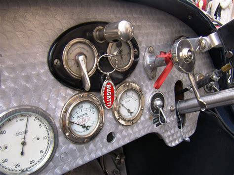 Bugatti Type 37 Dashboard Interior Gauges Interface