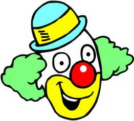 Happy Clown Faces Clip Art