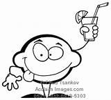 Lime Cartoon Coloring Drink Clipart Holding Umrissen Esquisse Geschetste Karakter Caractere Citron Citroen Limonade Zeichen Zitrone Fotosearch Frosch Acclaimimages Graphics sketch template
