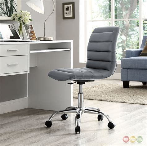 ripple modern vinyl upholstered armless mid back office