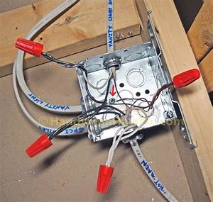 Metal Square Junction Box With Cover And Mounting Bracket  Description From Handymanhowto Com  I