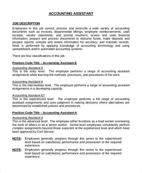 sample accounting job description  examples