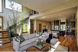 Modern Open Space Natural House Design Designed In The Same Contemporary Flow Light And Warm Materials Open