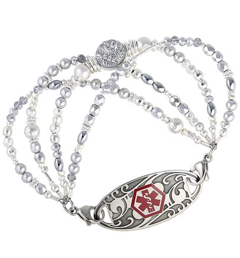 The Baltics Medical Id Bracelet  Lauren's Hope. Halo Setting Engagement Rings. 25th Anniversary Wedding Rings. Elemental Rings. Amorphous Diamond. Custom Bracelet. Black Bracelet. Amethyst Bracelet. Simple Gold Wedding Band