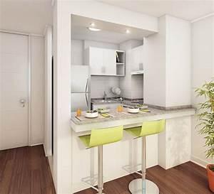 Diseños de cocinas pequeñas con barra Decoracion de interiores Fachadas para casas como