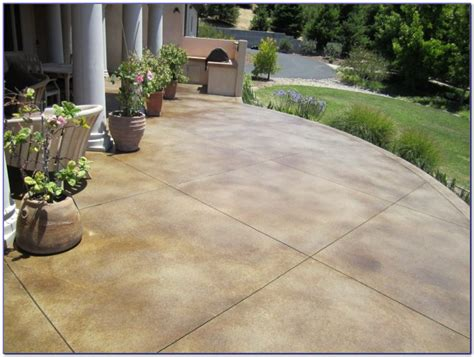 staining concrete patio pavers patios home decorating