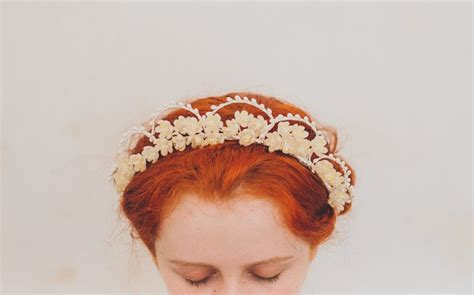 Beautiful Vintage Wax Flower Crowns Chic Vintage Brides