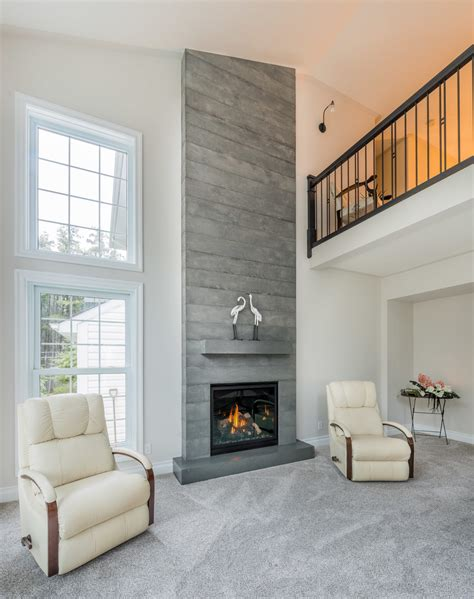 Board Formed Concrete Fireplace Brantford Ontario