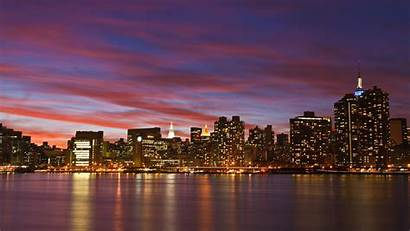 York Definition Wallpapers Nyc Sunset Skyline
