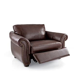 softaly colorado leather match recliner chair and a half