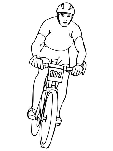 riding mountain bike coloring page  printable coloring pages