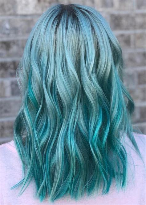 33 Beautiful Blue Green Mermaid Hair Color Ideas For 2018