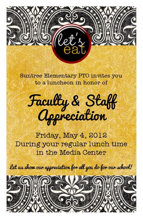 2012 Teacher Appreciation Luncheon Invite Visual