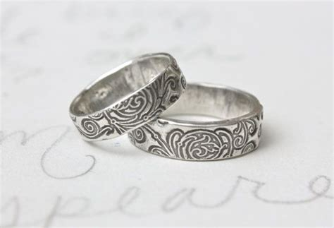 sle sale silver wedding band scroll engraved once