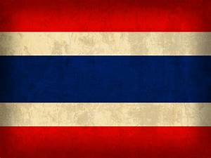 Thailand Flag Vintage Distressed Finish Mixed Media by