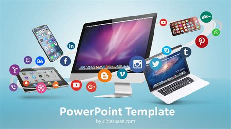 digital business social media powerpoint template