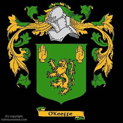 Keeffe Crest Arms Coat History Okeeffe Ireland