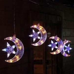 Stern Beleuchtet Weihnachten : led lichterkette weihnachten au en mit 5x mond und stern sterne blinken ~ Sanjose-hotels-ca.com Haus und Dekorationen