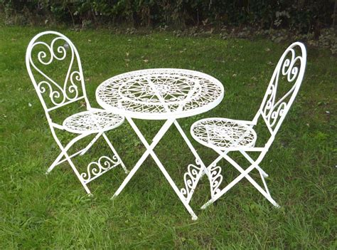 shabby chic childrens table and chairs shabby chic bistro set cream metal heart bistro metal