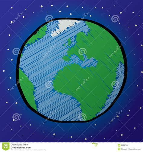 earth drawing stock vector illustration  nature globe