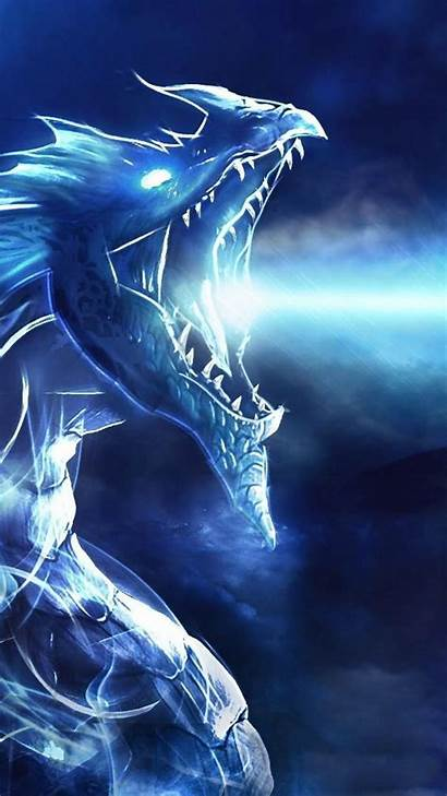 Dragon Wallpapers Ice Lightning Backgrounds Desktop Eyes