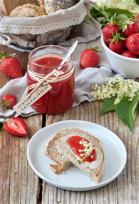erdbeer holunderblueten marmelade rezept sweets