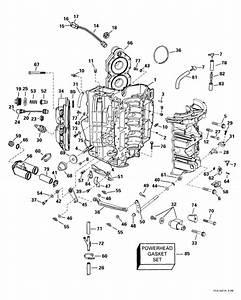 Evinrude Cylinder  U0026 Crankcase Parts For 1999 115hp