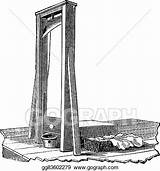 Guillotine Isolated Engraving Clip Gograph Eps Trousset 1891 1886 Encyclopedia Engraved sketch template