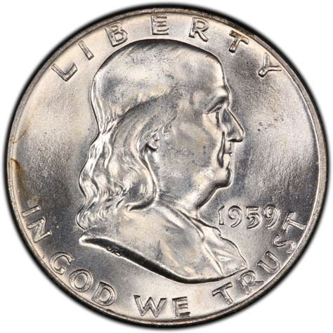 half dollar coin value 1959 franklin half dollar values and prices past sales coinvalues com