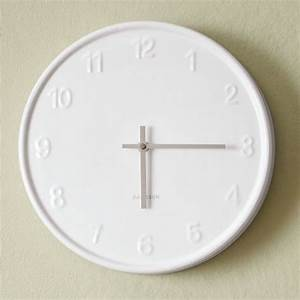 White wall clock modern clocks by west elm for Modern white wall clock