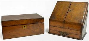 2 english mahogany lap desk oak letter box august With desk letter box
