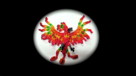rainbow loom phoenix adult  loom youtube