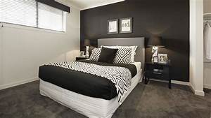 chambre noir blanc mur noir
