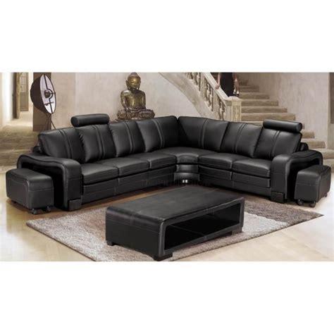 canap 233 d angle en cuir italien 7 places evita achat vente canap 233 sofa divan cdiscount