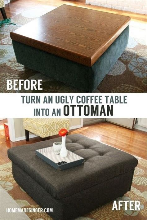 Make An Ottoman From A Coffee Table by Coffee Table Turned Ottoman 183 How To Make A Stool