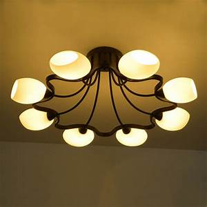 Flush mount ceiling light round led modern