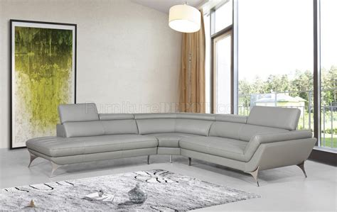 Divani Soggiorno Moderni : Graphite Sectional Sofa 1541 In Grey Leather By Vig