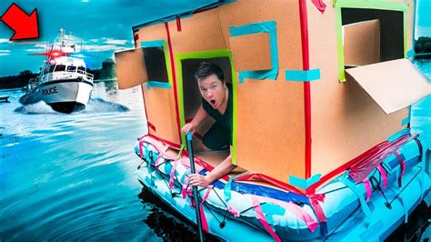 Escaping Police Chase In Floating Fort!! 🚔(24 Hour