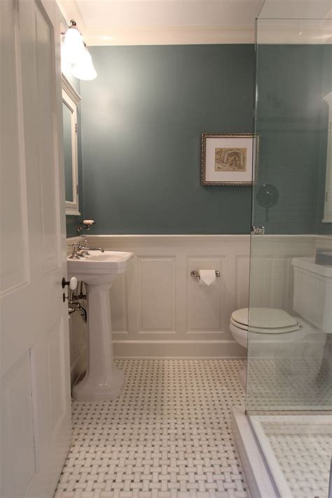 bathroom ideas with wainscoting master bathroom design decisions tile vs wood